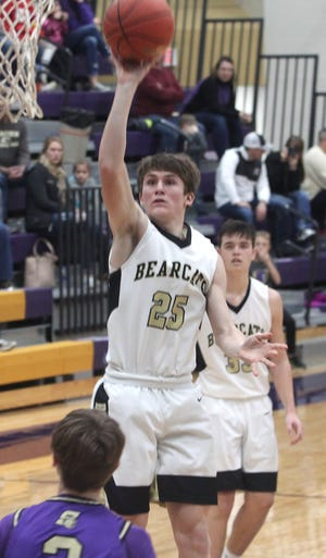Cairo sophomore Logan Head releases a 12-foot jumper Saturday during the boys championship game of the Salisbury Invitational. Head the Bearcats held off the tournament host winning 63-54.