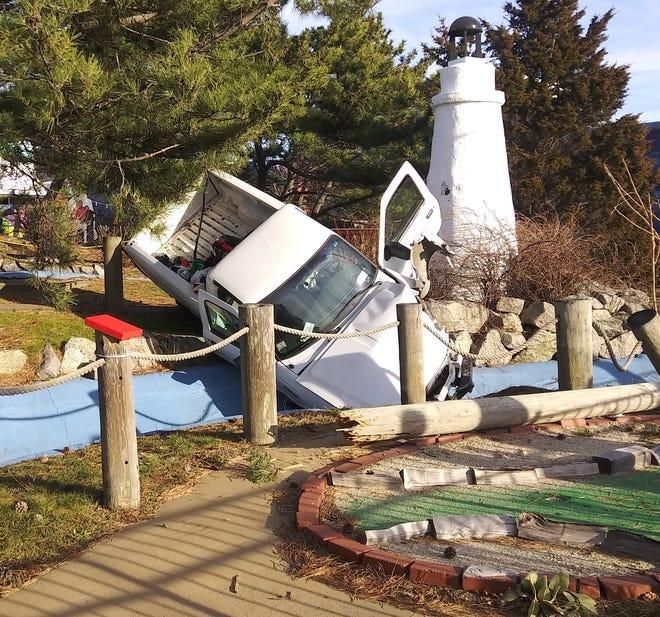 A Hull man crashed into the course at Nantasket Landing Miniature Golf on Sunday, Jan. 10, 2021.