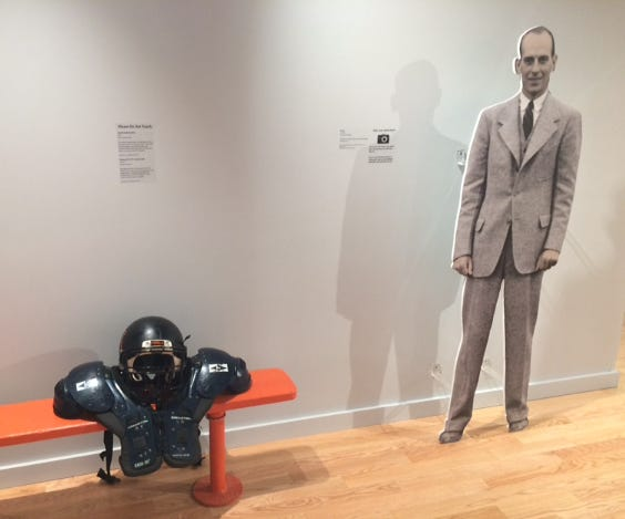 """The exhibit """"Paul Brown's Pro Teams: History of the Browns and Bengals"""" in the Paul Brown Museum Gallery at Massillon Museum enables visitors to recall the history of the teams Brown coached in Cleveland and Cincinnati."""