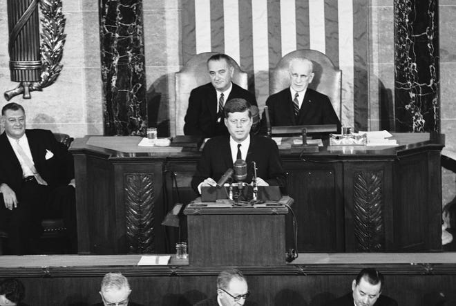 On Feb. 7, 1962, President John F. Kennedy imposed a full trade embargo on Cuba.