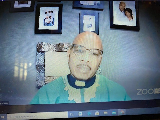 The Rev. Ron Rawls, senior pastor of Greater Bethel AME Church, delivered a message of strength during the church's Sunday morning worship service broadcast via Facebook.