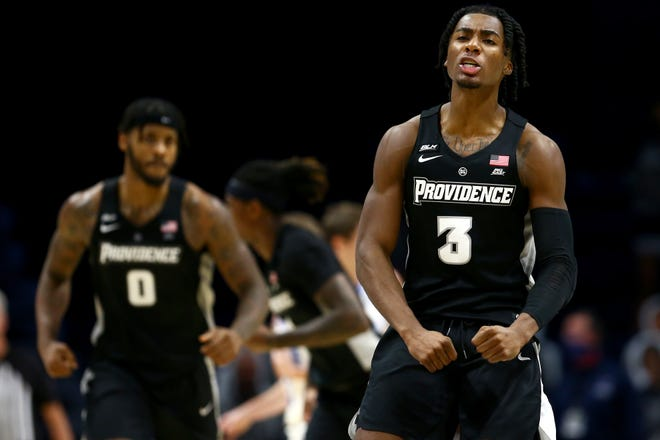 David Duke, Providence's leading scorer, dropped 30 points on the Musketeers and hit seven 3-pointers when the Musketeers escaped with a 74-73 victory at Cintas Center on January 10.