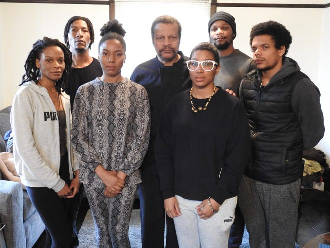 The Jones family is thankful for the support shown by the community and the love they have in each other while dealing with the brutal double homicide of Joshua Jones and Martha Young. In the back row are George Jr., George Sr. and Isaiah. In the front row are Merit Anna, Verity, Naomi and Seth.