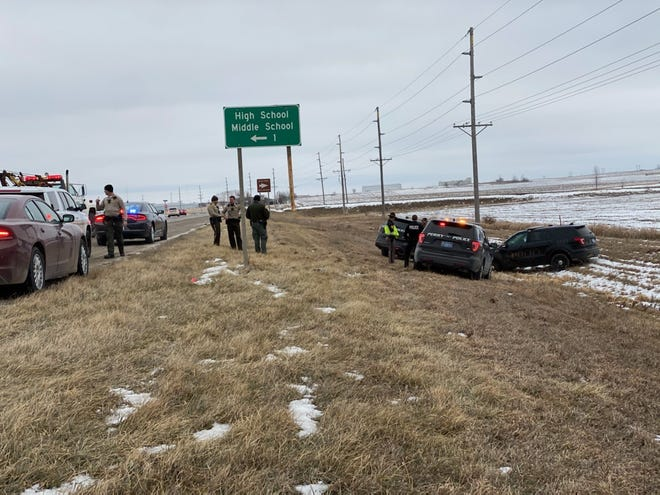 A 14-year-old girl was involved in a police chase with a stolen patrol car.