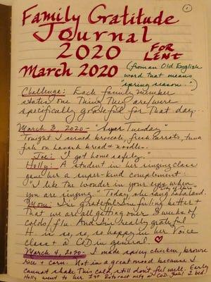 Holly Hinman's gratitude journal