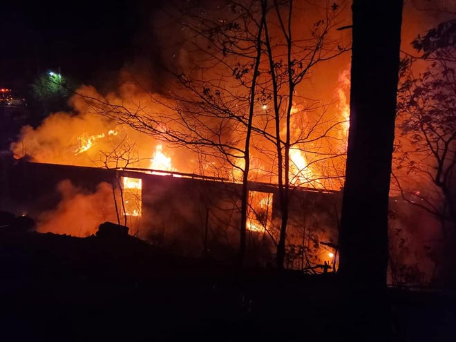 Firefighters arrived to fight the blaze just after midnight on Sunday in the2100 block of Bremer Road. Crews finished up around 3:30 a.m.