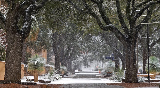 San Angelo will likely see snow for the second time this year during Valentine's Day, according to the National Weather Service.