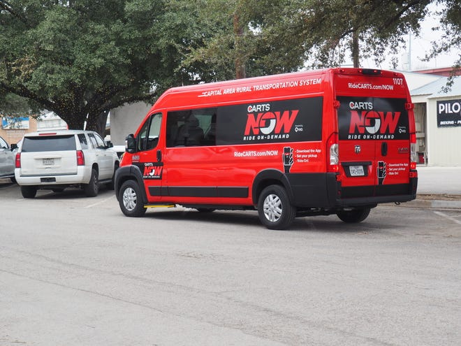 Capital Area Rural Transportation System launched the full-service version of its on-demand CARTS Now ride service Monday in Bastrop. The service offers curb-to-curb rides anywhere within Bastrop city limits. [CONTRIBUTED BY CARTS]