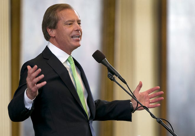 Former Lt. Gov. David Dewhurst, shown presiding over the Texas Senate in 2015, criticized President Donald Trump and U.S. Sen. Ted Cruz, R-Texas, after mob violence rocked the U.S. Capitol last week.