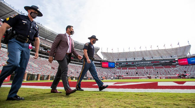 Alabama offensive coordinator Steve Sarkisian was set to coach his final game with the Crimson Tide in Monday's College Football Playoff championship against Ohio State and then take over as Texas' head coach Tuesday. UT will be his third head coaching stop, after Washington and USC.