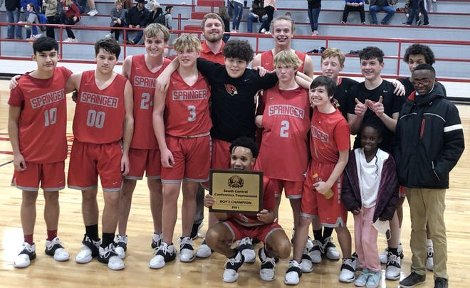 Springer boys basketball tallied a 70-52 win over Turner on Saturday to win the South Central Conference Tournament.