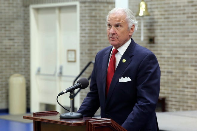 "Gov. Henry McMaster said the state had seen a ""dramatic acceleration"" in vaccine usage over the past week, so the schedule was being sped up. [FILE/ASSOCIATED PRESS]"