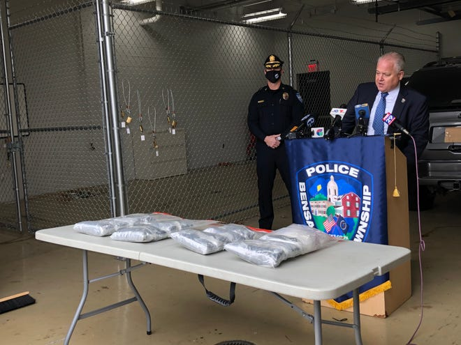 Bensalem Director of Public Safety Fred Harran talks about a recent drug arrest in the township. Police said Jerimias Donis-Garcia, 54, hid 15 pounds of methamphetamine in a secret compartment in his vehicle.