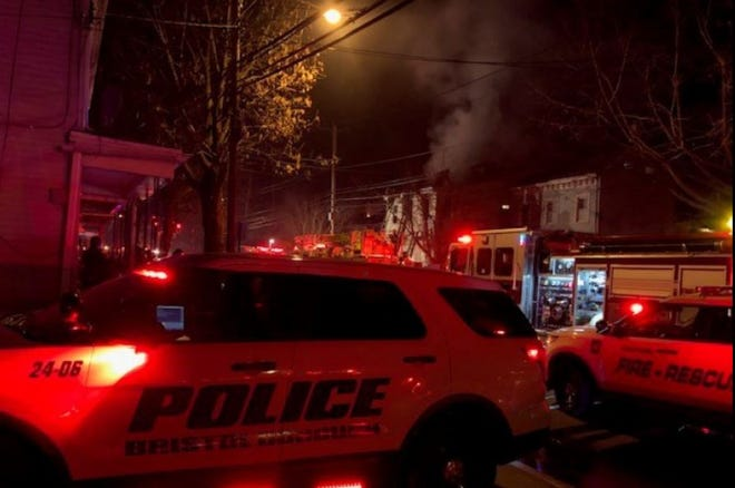 Crews responded to a fire in the 500 block of Bath Street Sunday night. One person had to be taken to a hospital for treatment.