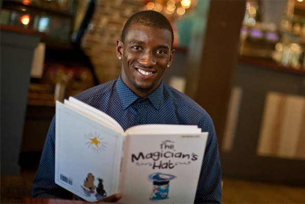 """The former wide receiver just released his second children's book, """"My Very Favorite Book In The Whole Wide World."""""""