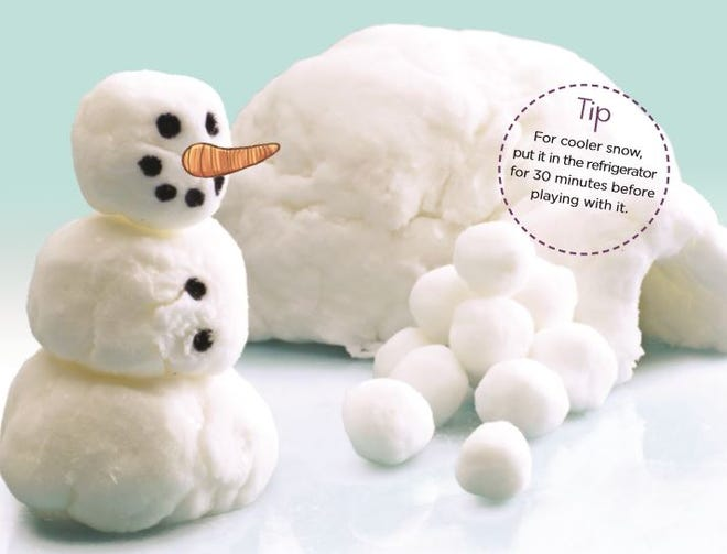 For cooler snow, put it in the refrigerator for 30 minutes before playing with it.