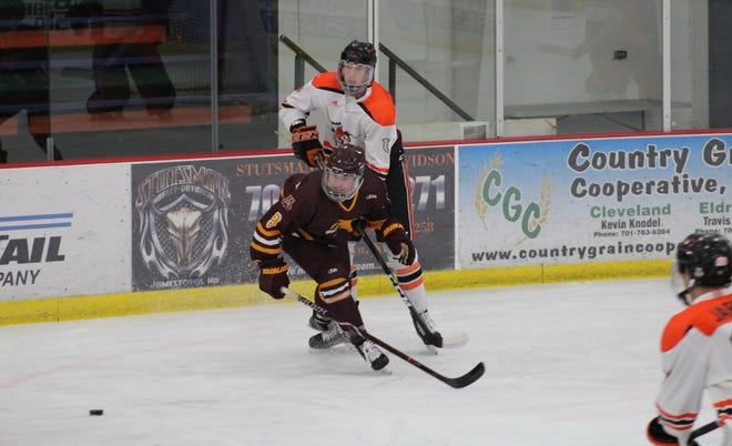 Ben Trostad and the Minnesota Crookston hockey team fell 7-4 to the University of Jamestown on Sunday afternoon.