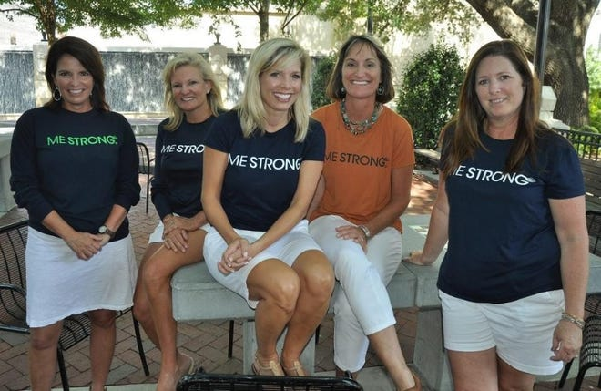 From left: Barbara Underhill, Kim Winters, Linda Ryan, Kim Martin and Kathy Guyer. The five friends created the nonprofit ME STRONG after Ryan's cancer returned. The ME STRONG 5K, held annually in DeLand, raises money to help those battling cancer and to fund research.