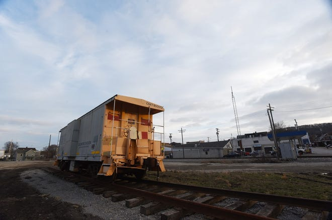 CSX has donated this caboose to Ellwood City's All Aboard Committee for repair and eventual display.