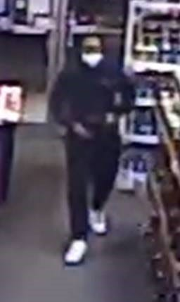 Easton police are searching for this man, who they say robbed Scott's Fine Wine & Spirits on Washington Street, Saturday, Jan. 9, 2021.