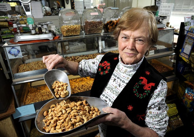 Annie Linebach is shown in this 2008 file photo. Linebach, owner of the Peanut Shoppe in the Renaissance Centre in Erie, 1001 State St., has retired and closed the shop.