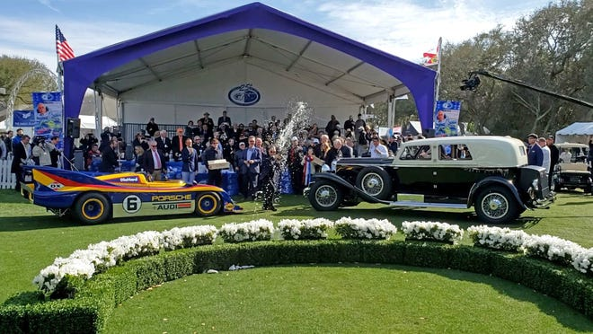 Champagne flew as the owners of the 1973 Porsche 917/30 Can-Am Spyder (left) and 1929 Duesenberg J-218 Town Limousine were crowned Best in Show last March at the 25th annual Amelia Island Concour d'Elegance.