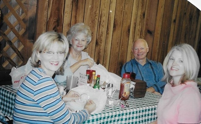 Jerry and Jean Cannon originally opened the Country Kitchen restaurant in Gonzales. They are pictured with Lori Carmouche and Jana Capiel, who still work at the restaurant.