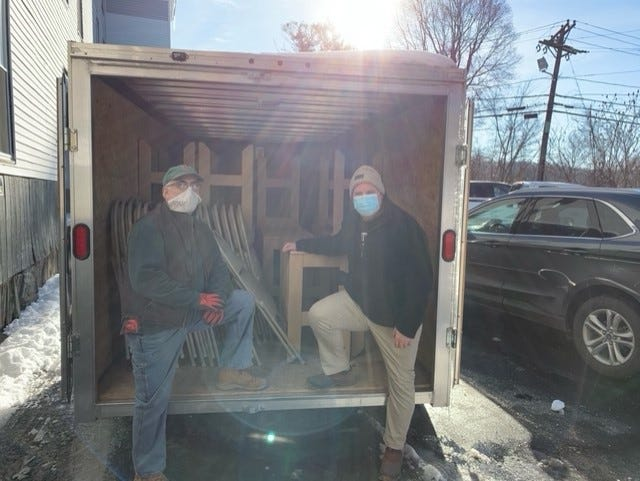 Bob Antocci, left, and John Mahan lead the community outreach project.