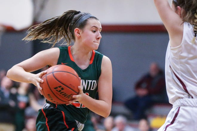 Hopkinton's Kiki Fossbender, pictured in a game against Millis on Jan. 11, 2019, helped Hopkinton beat Norwood on Sunday.