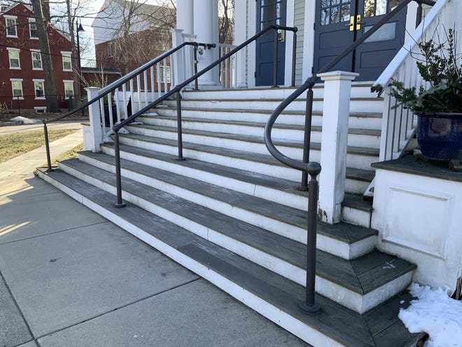 Ashland officials believe it will cost $30,000-$40,000 to repair the front steps of Town Hall.