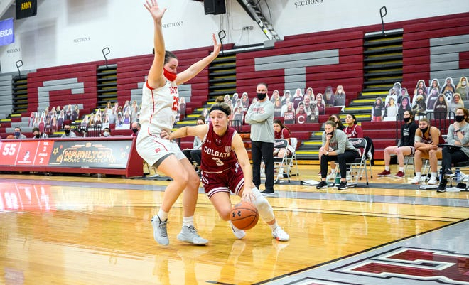Colgate women's basketball guard Alexa Brodie (3) led all scorers Jan. 10 with 20 points at home against Boston University.