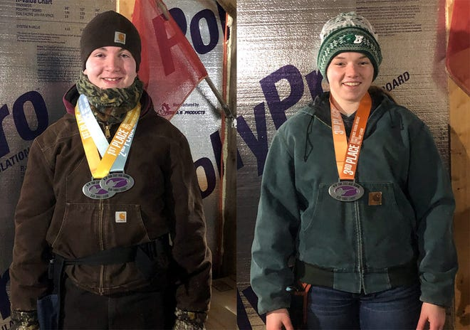 Stockbridge Valley Central School seniors Tanner Dager, left, and Rebecca Ax are two of the top finishers for the fall season of their Stockbridge Valley Clay Target Club.