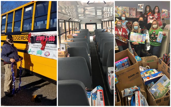 """The company that operates buses for the York School Department and Kittery School Districtrecently held two """"Stuff-A-Bus"""" events with help from local business."""