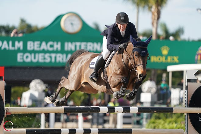 McLain Ward and his mount Catoki won Sunday's Bainbridge Companies Grand Prix at Palm Beach Equestrian Center.