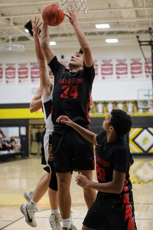 Luke Patton had 10 points and nine rebounds to help the Roland-Story boys' basketball team stay unbeaten with a 60-21 victory at West Marshall Friday.