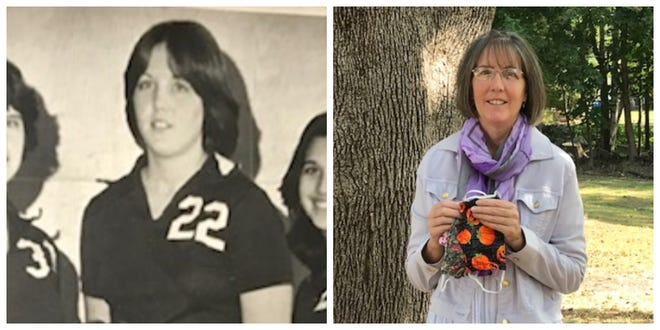 Westport's Donna Webb, then and now.
