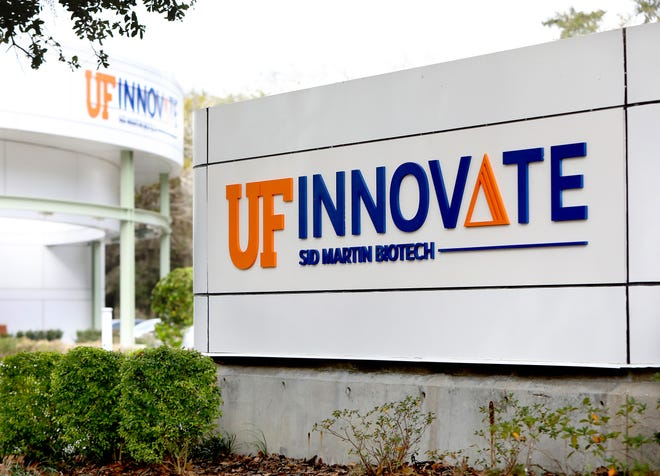 The Sid Martin Biotech building at the UF Innovate facility in Alachua is shown on Monday. [Brad McClenny/The Gainesville Sun]