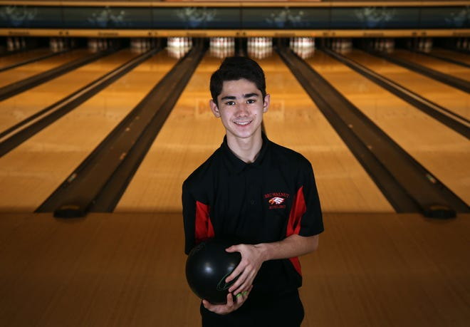 Big Walnut freshman Aidan Furukawa was averaging 216.2 pins per game with a COHSBC-best two-game series of 516 entering the Golden Eagles' match Jan. 13 against Westerville South. His average was fourth in the COHSBC heading into action Jan. 12.