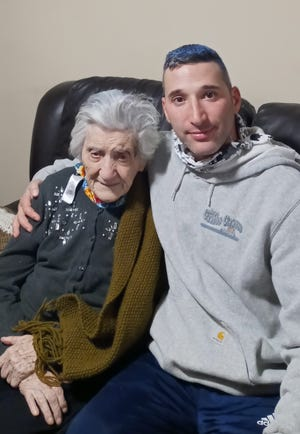 """Nicoletta Caruso of West Newton, """"The Godmother of West Newton,"""" will turn 102 on Jan. 27."""