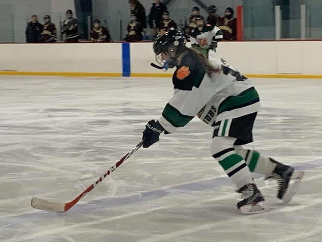 MOA defenseman Megan O'Hara during the team's match against King Philip on Jan. 8 in Foxborough.