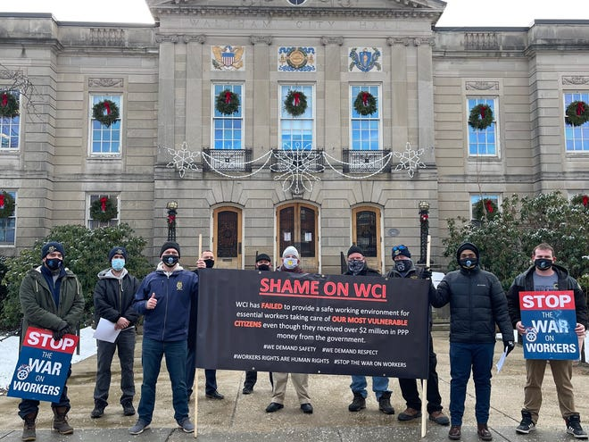 Teamsters Local 25 recently held an informational rally outside Waltham City Hall to bring awareness to the reported lack of safety supplies and protections at Work Community Independence.