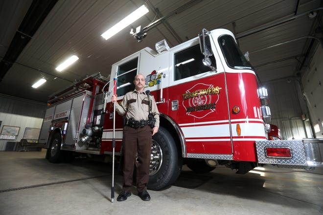 Rusty Dreher is a full-time firefighter with the Coshocton Fire Department, part-time Coshocton County dog warden, part-time Coshocton County deputy sheriff, and the assistant fire chief with the Three Rivers Fire District.