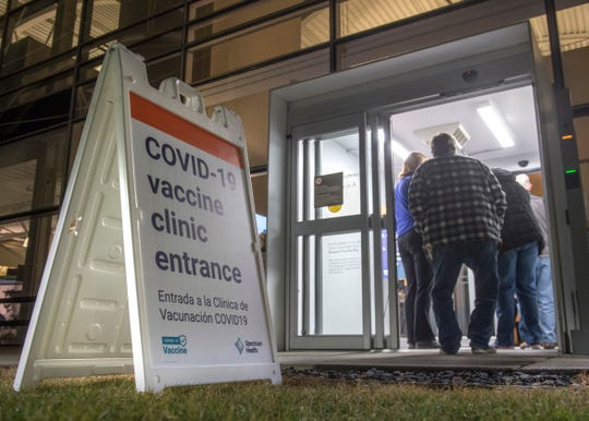 A Spectrum Health COVID-19 vaccine clinic opens at 6 a.m. Monday.