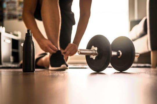 Creating a home gym.