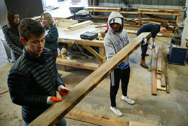Furman University students participate in a 2020 MLK service day event. This year, the university's events will be virtual
