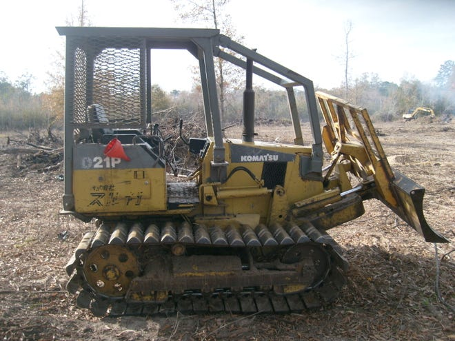 The Lafayette Parish Sheriff's Office is searching for a Komatsu Dozer that was taken from a vacant lot.
