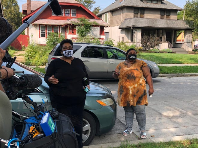"""Melody McCurtis and Danell Cross talk about fighting for their Milwaukee neighborhood in """"Metcalfe Park: Black Vote Rising,"""" a new documentary by Brad Lichtenstein and Miela Fetaw debuting on PBS World Jan. 18."""