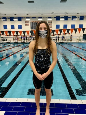 Junior Brady Kendall highlights Plymouth's girls swim and dive team heading into the MHSAA state meet Saturday.