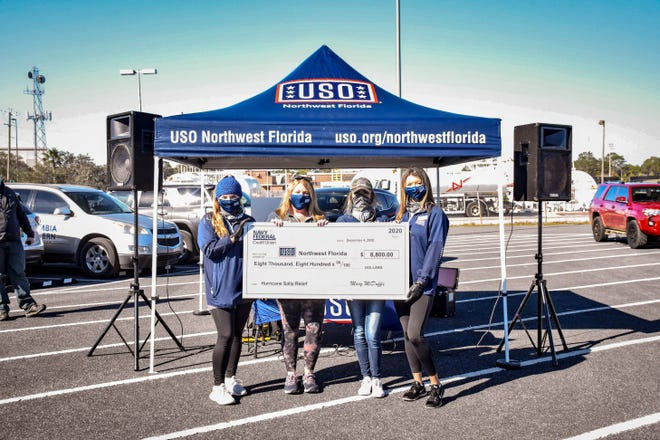 Navy Federal employees support USO Northwest Florida  with Hurricane Sally recovery at NAS Pensacola.