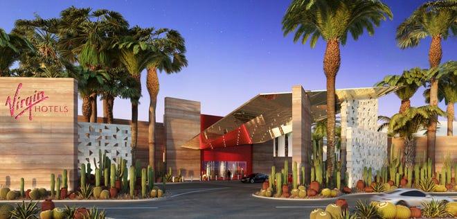 A rendering of Virgin Hotels Las Vegas.